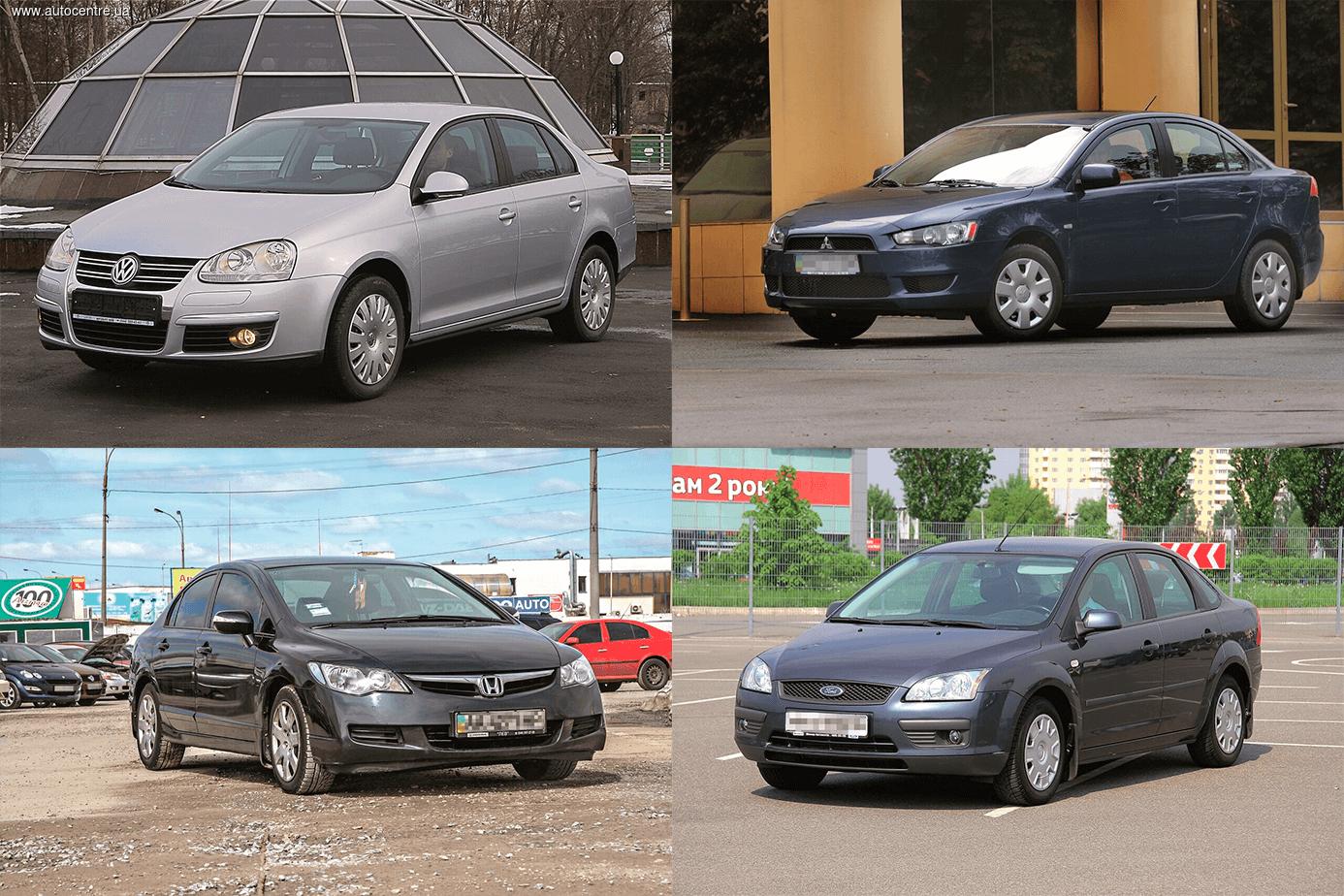 Сравнительный обзор б/у седанов: Ford Focus, Honda Civic, Mitsubishi Lancer X и VW Jetta V