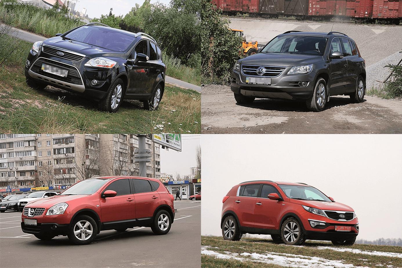 Сравнительный обзор б/у кроссоверов: Ford Kuga, Kia Sportage, Nissan Qashqai и VW Tiguan