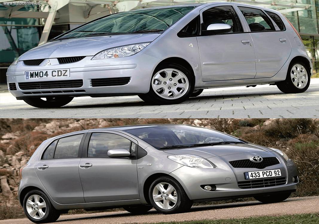 Сравнительный обзор б/у Mitsubishi Colt и Toyota Yaris