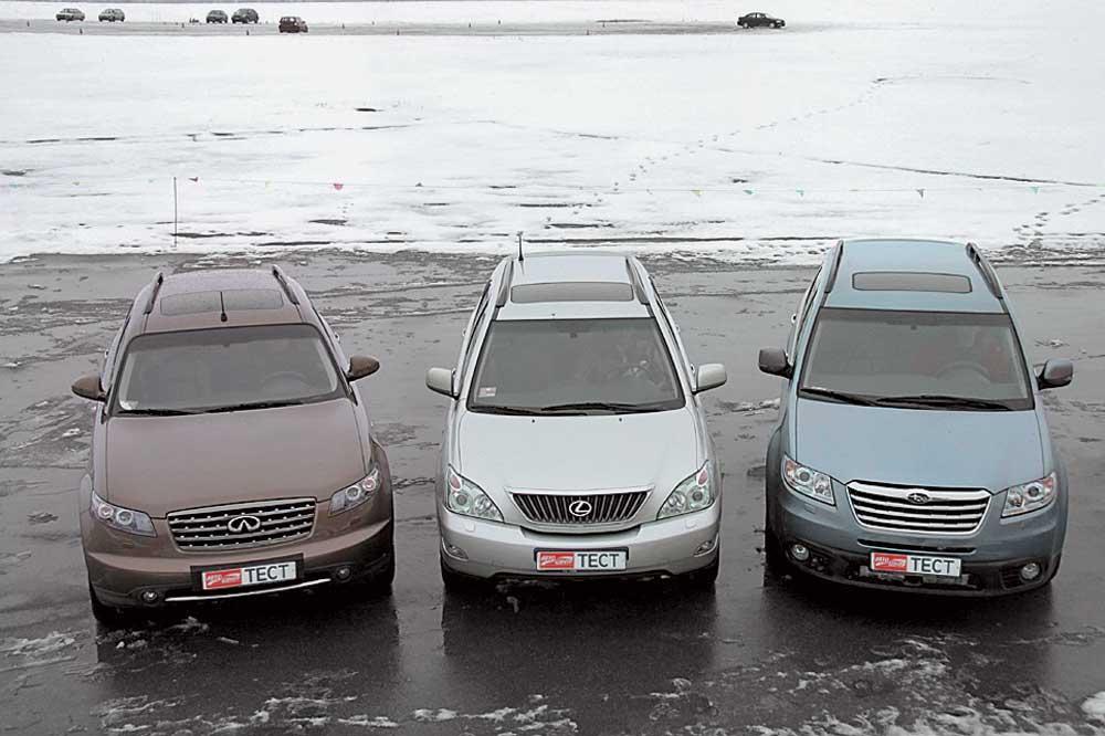 Infiniti FX35, Lexus RX 350,