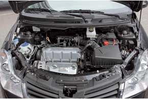 Мотор 1,5л (109л.с.) хорошо тянет в нижнем исреднем диапазонах, но не любит раскрутки выше 3,5тыс.об/мин.