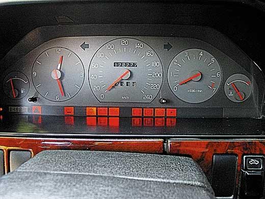 Щитки приборов Volvo 940 и