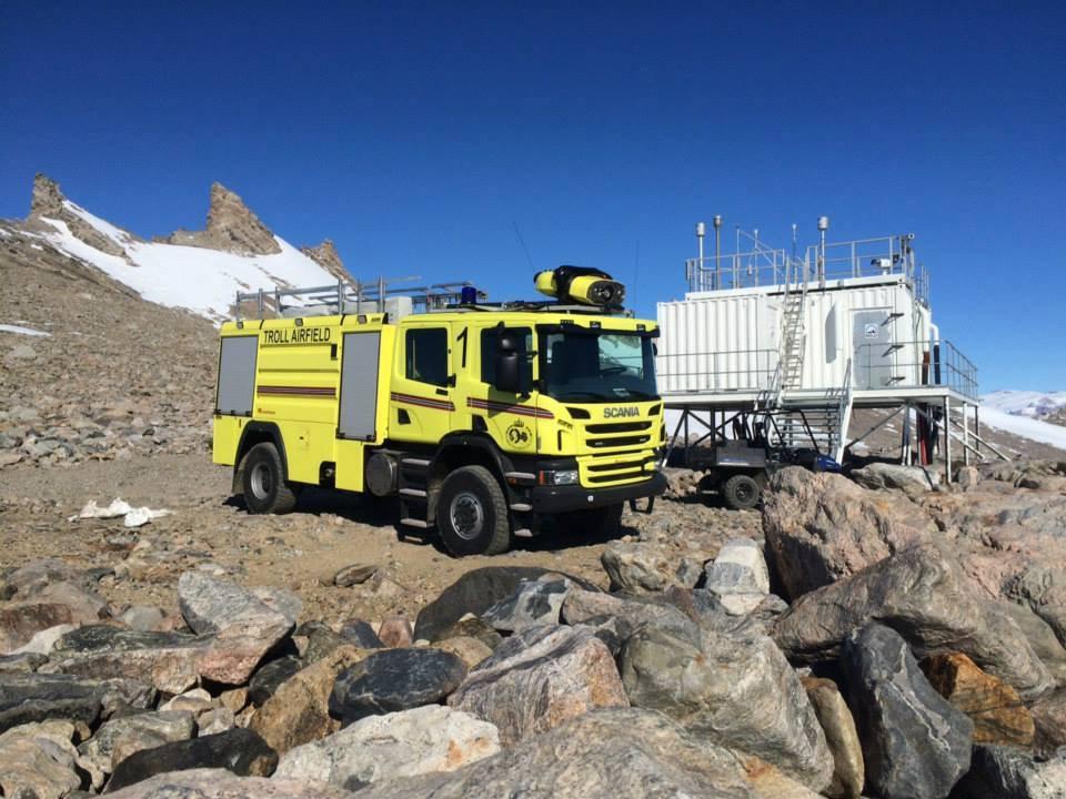 Пожарный автомобиль Scania для Антарктиды