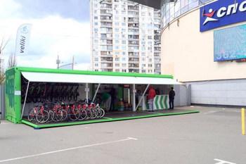 В Киеве возведут сеть перехватывающих велопаркингов