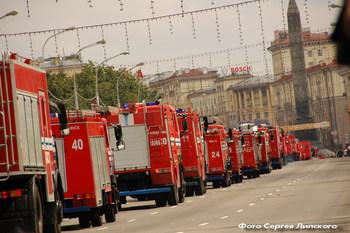 Новинки парада пожарных автомобилей