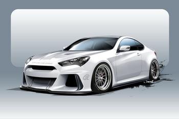 Hyundai представит «заряженный» Genesis Coupe