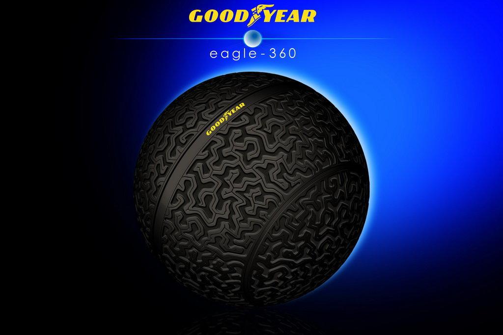 GoogYear Eagle-360: концепт сферической шины будущего (видео)