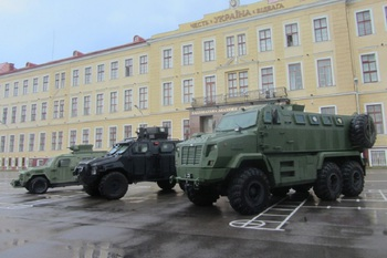 Бронеавтомобили КрАЗ презентовали во Львове