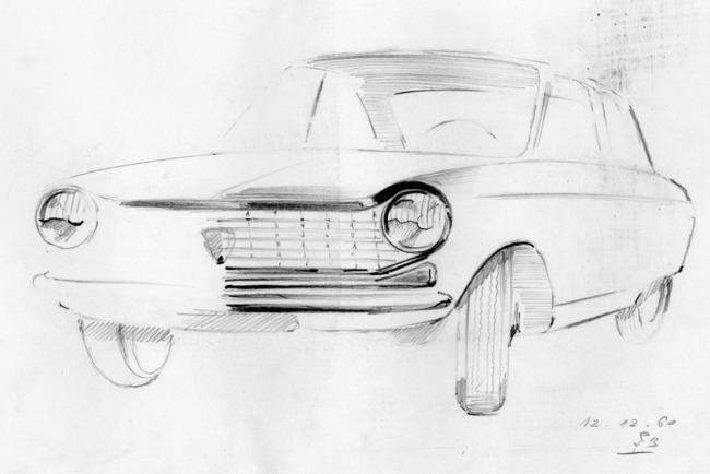 Peugeot 204, дизайн которого разработан Полем Буво