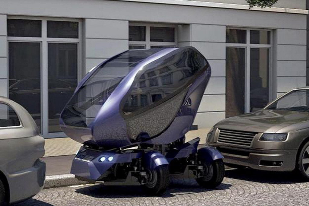 Автомобиль научили сжиматься и двигаться крабом
