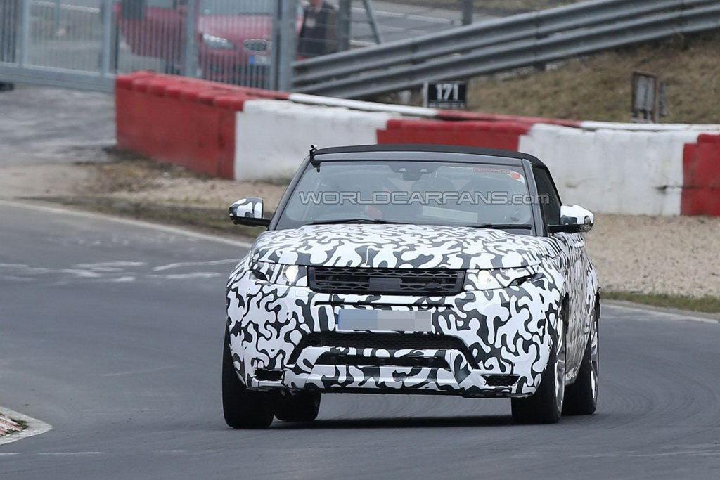 Кабриолет Range Rover Evoque замечен вдвижении наНюрбургринге