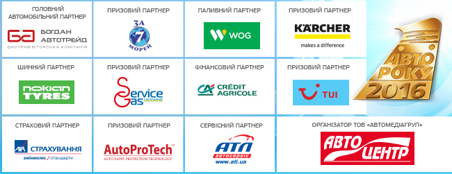Автомобиль года в Украине 2016: список претендентов на победу определен