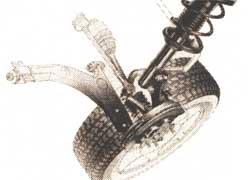 Передняя подвеска типа «Мак Ферсон» автомобиля концерна K ia Sephia с приводом передних колес.