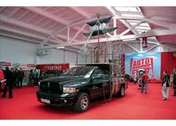 Пикапы Dodge на «Автошоу» официально представлены не были, зато неофициально один них – Ram 1500 – красовался в виде звукового «демо-фрегата».