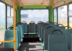 В салоне А069 – ровный пол, широкий проход между сиденьями и удобные накопительные площадки.