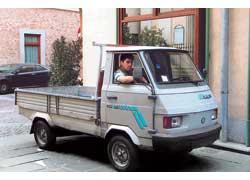 Самый маленький Piaggio на базе мопеда Ciao («Чао») – Ape 50 Professional.