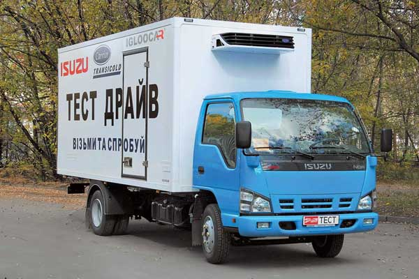 Isuzu NQR71P с фургоном Igloocar