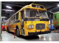 Scania-Vabis СF7661 (1966 г.). Мест – 75 (сид. – 30). Мотор – диз. 190 л. с. На автобусах серии CF фирма впервые применила несущий каркас кузова и заднюю пневмоподвеску.