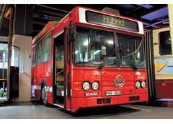 Шаг в будущее – опытный гибридный автобус на шасси Scania. Kузов – Scania-Bussar. Мест – 57 (сид. – 38).