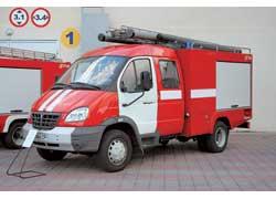ГАЗ-3310 «Валдай» в виде пожарной автоцистерны АЦ-4 представила украинская компания «Титал».