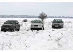 Infiniti FX35, Lexus RX 350, Subaru Tribeca