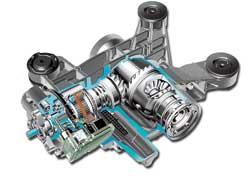 Многодисковая муфта Haldex расположена перед задним редуктором.