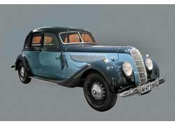 Первый автомобиль BMW класса люкс (oberklasse) – модель 335 (1939–41 гг.). Кузов – фирмы Ambi-Budd. 6 цил., 3485 см куб., 90 л. с., 145 км/ч.