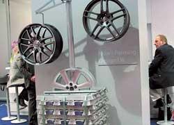 Наибольший ассортимент новой продукции можно было найти в сегменте колесных дисков из легких сплавов, где активно выступили китайские производители.