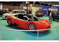 Сенсацией стал показ спорткара Lada , созданного на платформе модели Revolution с мотором 2,0 л (250 л. с.).