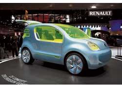 Концепт Renault ZE приводится в движение 70-киловаттным электромотором.