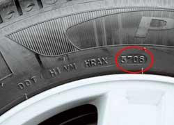 Число 3706 означает, что шина была выпущена на 37 неделе 2006 года.