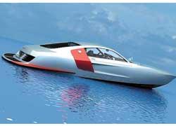 Шведская компания Vizualtech создала моторную лодку, дизайн которой выполнен в стиле Audi R8.