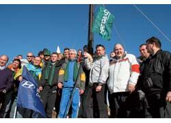 Взятием новой альпийской высоты корпорация «Богдан» отметила запуск в эксплуатацию двух автомобильных заводов.
