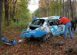 Дуэль за подиум закончилась для Владимира Петренко аварией, что нечасто бывает с многократным чемпионом Украины