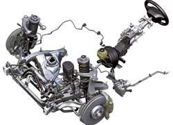 Угол поворота передних колес регулируется системой активного рулевого управления.