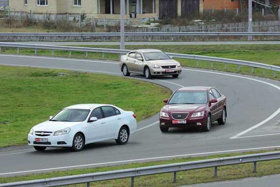 Тест Kia Magentis, Mitsubishi Galant, Hyundai Sonata