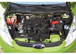 Самый мощный из предлагаемых для Fiesta моторов – 1,6-литровый бензиновый, 120 л. с.