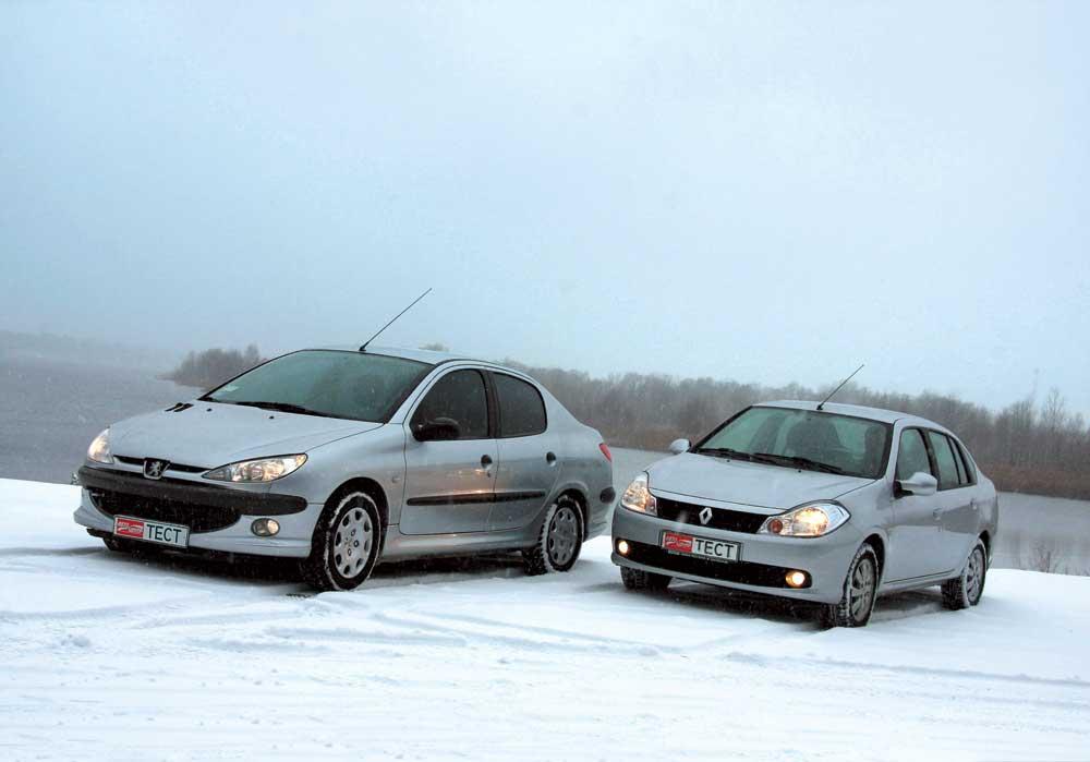 Peugeot 206 Renault Symbol