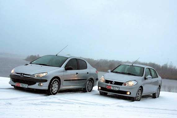 Peugeot 206 & Renault Symbol