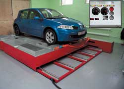 Стенд VT4/B2 позволяет производить замеры характеристик автомобилей с двигателями мощностью до 850 л. с.