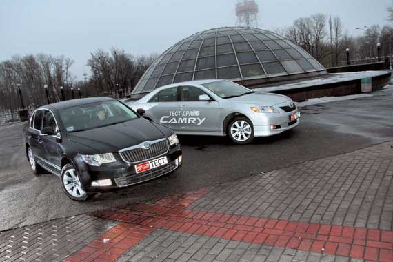 Skoda Superb & Toyota Camry