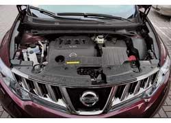 Модернизированный 3,5-литровый мотор Murano развивает мощность 249 л. с. (+15 л. с.) и крутящий момент 336 Нм (+18 Нм).