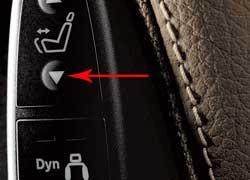 Активные мультиконтурные сиденья управляются специальными клавишами между сиденьем и трансмиссионным тоннелем.