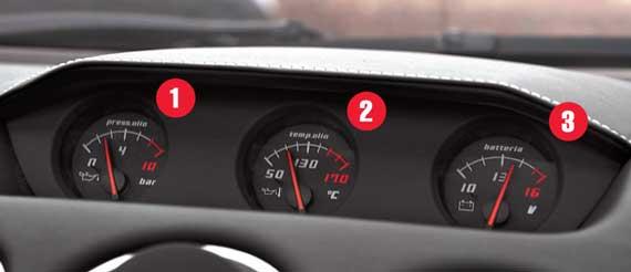 На дорожной версии дополнительные приборы – указатели давления и температуры масла, а также вольтметр – выглядят как спортивный антураж.