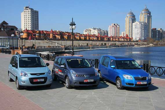 Hyundai Matrix, Nissan Note и Skoda Roomster