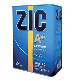 Моторное масло для двигателей легковых автомобилей ZIC A + имеет индекс вязкости 10W-40