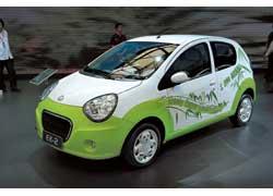 Концептуальный электромобиль Geely Gleagle EK-2 способен преодолеть на одной зарядке литий-ионных батарей 180 км и разгоняется до 150 км/ч.
