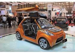 У трехместного концепта Geely Gleagle IG кузов из углепластика, капот из солнечных батарей и электропривод.