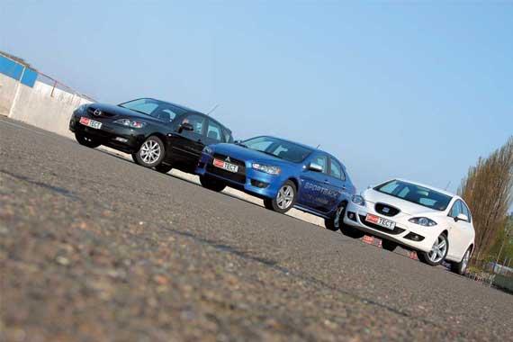Mazda3, Mitsubishi Lancer X, Seat Leon