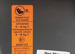 Все продаваемые в Европе удерживающие устройства должны соответствовать сертификату ECE R44/04 , вступившему в силу в 2009 году.